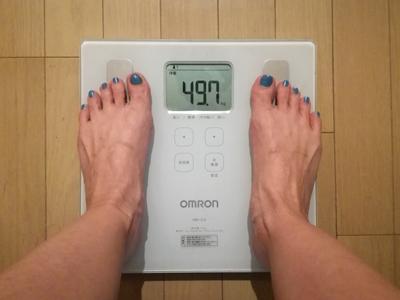 美穀菜ダイエット22日目の朝の体重