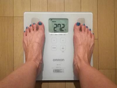 美穀菜ダイエット22日目の朝の体脂肪率