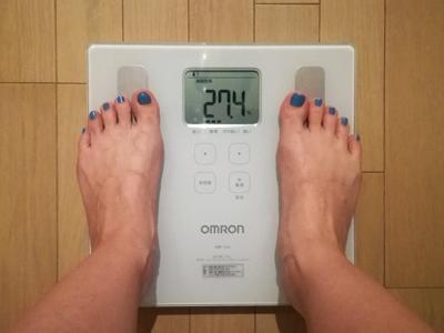 美穀菜ダイエット8日目朝の体脂肪率